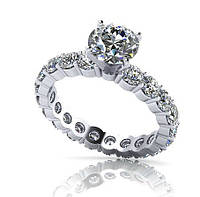 Кольцо серебряное Бриллиант от TIFFANY & CO