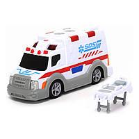 """Игрушечные машинки и техника «Dickie Toys» (3302004) скорая помощь с носилками """"Ambulance"""", 15 см"""