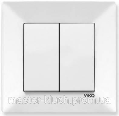 Выключатель двухклавишный Viko Meridian