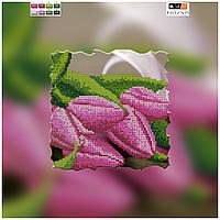 """Схема для вышивки бисером на подрамнике (холст) """"Розовые тюльпаны"""""""