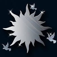 Декоративное акриловое зеркало «Солнышко с птичками», Juergen