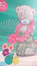 """Альбом для рисования """"Мишка Me to You - Гавайи"""" с глиттером (с блестками), 30 листов, на спирале, фото 3"""