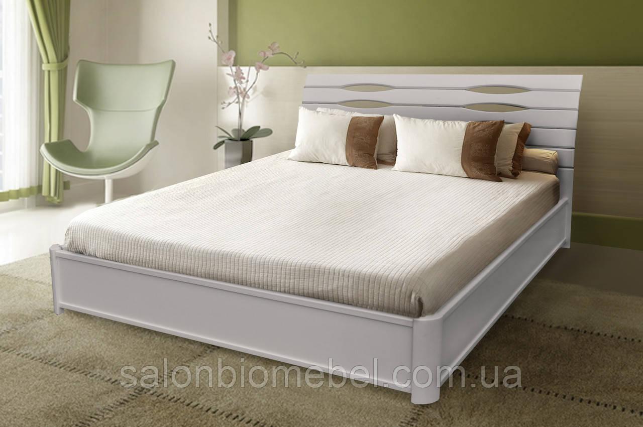 Кровать двухспальная Мария белая с подъемной рамой 1,4м
