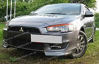 Реснички Митсубиси Лансер 10 (накладки на передние фары Mitsubishi Lancer X)