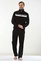 Турецький трикотажний чоловічий спортивний костюм FM15954 Black