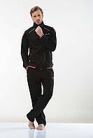 Трикотажный мужской спортивный костюм пр-во Турция FM16224 Black