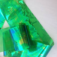 """Фольга """"битое стекло"""" зеленая"""