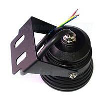 Светодиодный круглый линзованый прожектор SL-10-12 10W 12V 3000К IP67 черный Код.58719, фото 2
