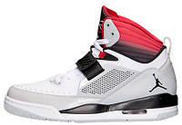 Баскетбольные кроссовки Nike Air Jordan Flight 97 Grey Red Найк Аир Джордан серые