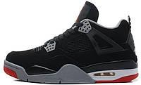 Баскетбольные кроссовки Nike Air Jordan IV Retro, Найк Аир Джордан ретро черные