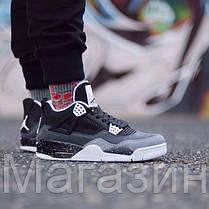 Баскетбольные кроссовки Nike Air Jordan 4 Retro, Найк Аир Джордан ретро серые, фото 2
