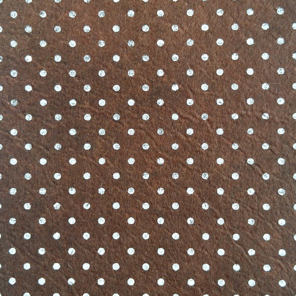 Фетр в горошек среднежесткий 1 мм, 20x30 см, КОРИЧНЕВЫЙ, Китай