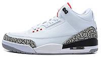 Баскетбольные кроссовки Nike Air Jordan 3 Retro, Найк Аир Джордан ретро белые