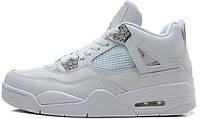 Баскетбольные кроссовки Nike Air Jordan IV, Найк Аир Джордан белые