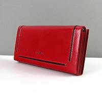 Женский красный кошелек кожаный гладкий Bl Balli, фото 1