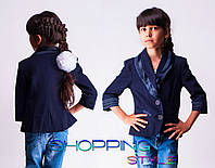 Школьный пиджак для девочки синий
