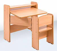 Одноместная раскладная деревянная парта для детей 1-3 класс