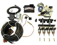 Комплект STAG-4 Q-BOX BASIC, ред. Tomasetto Artic 160 л.с, форс. Hana Rail красные, МН сталь, фильтр 1-1