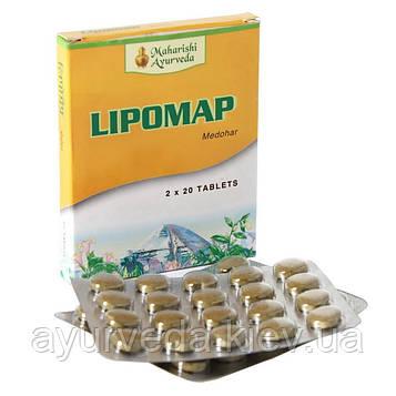 Липомап, липидопонижающий травяной препарат от фирмы Maharishi Ayurveda, Lipomap (40tab)