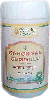 Канчнар, Канчанара, Канчанар гугул, гуггул, гугулу, Kanchanara Guggulu 25gm (50tab) леч. лимфатической сист.