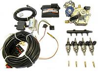 Комплект STAG-4 Q-BOX BASIC, ред. Tomasetto Artic 160 л.с, форс. Hana Single красные, распред., фильтр 1-1