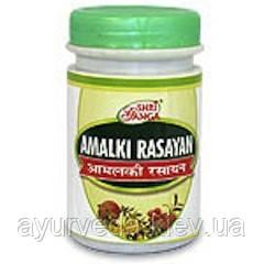 Амалаки расаяна, улучшающее обмен веществ, тонизирующее, вяжущее, желудочное и жаропонижающее средство.