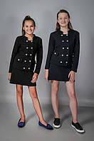 Детский вязаный пиджак для девочки