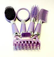 Набор расчёсок для волос (сиреневый), фото 1