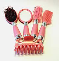 Набор расчёсок для волос (розовый), фото 1