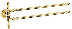 Держатель для полотенец двойной KUGU Eldorado 842G Gold