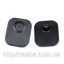Жёсткий противокражный радиочастотный датчик мини для магазина (бирка для одежды)