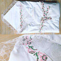 Вышытый Конверт-одеяло на выписку с роддома для девочки