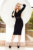Черное офисное платье Сабрина 42-48 размеры Jadone