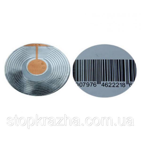 Атикражный датчик на товар (Круглая защитная радиочастотная этикетка/метка с диаметром 50 мм) R5