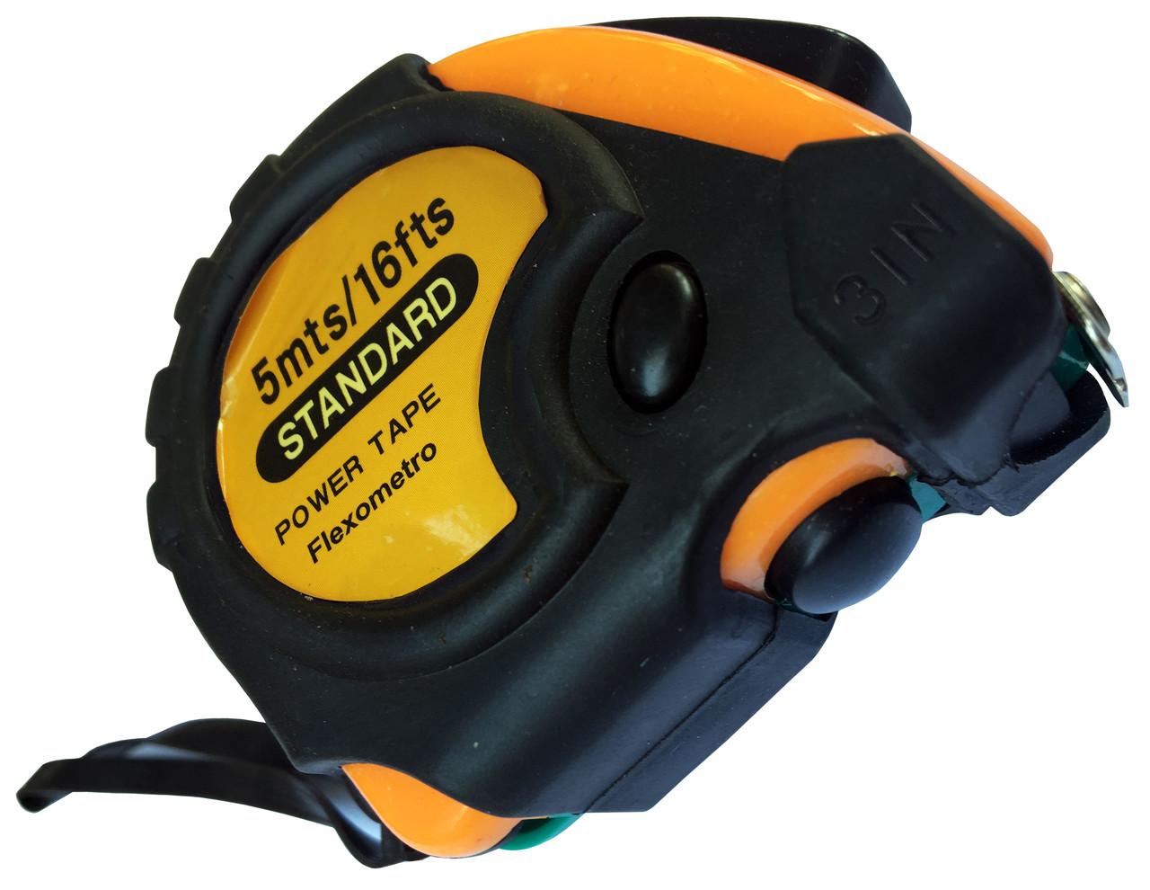 Рулетки измерительные STANDARD 5 метров, с фиксатором