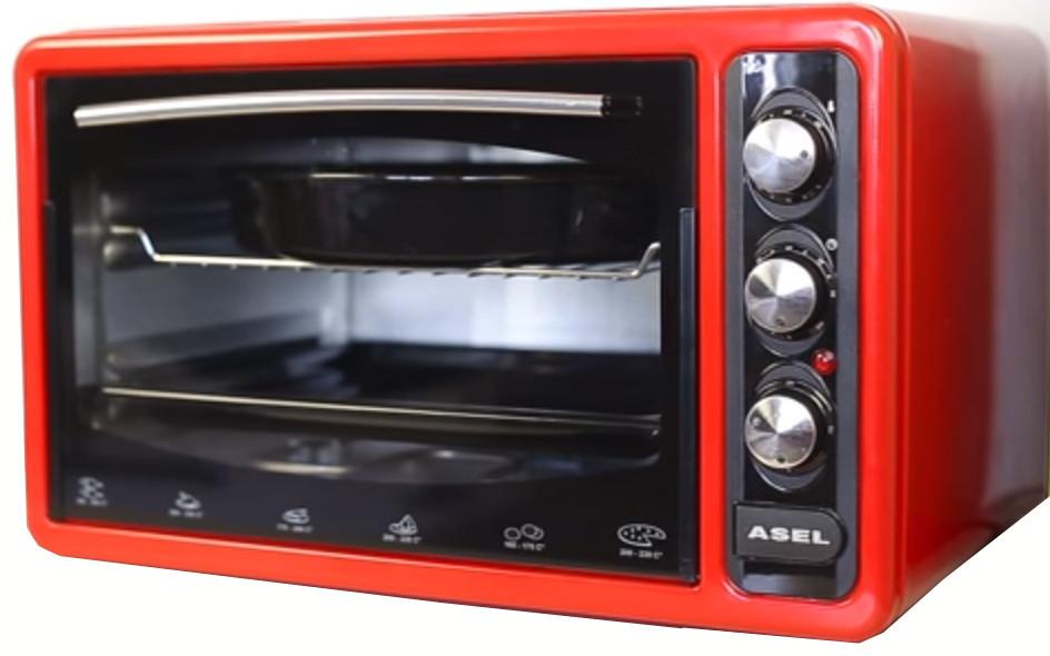Электрическая духовка ASEL  AF - 0723  RED  объёмом 50 литров Турция