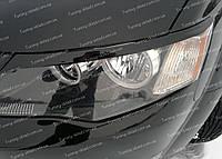 Реснички Митсубиси Аутлендер XL (накладки на передние фары Mitsubishi Outlander XL)