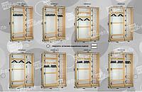Варианты наполнения шкаф-купе 1600-1700