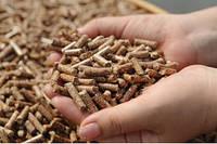 Древесные пеллеты из сосны 6 мм.