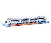 Игрушечный поезд 588-7 A: звук, работа на батарейке, масштаб 1:45, 80х12х11 см