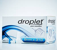 Иглы к инсулиновым  шприц-ручкам  Дроплет ,длина 8 мм,диаметр 31G (0,25мм)  №10