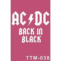 "Тематический трафарет для био-тату ""AC/DC"""