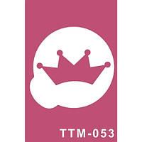 """Трафарет для нанесения временной татуировки """"Сказочная корона"""""""