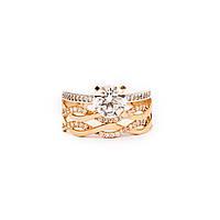 Золотое кольцо с фианитами р19