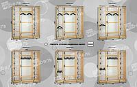 Варианты наполнения шкаф-купе 2200