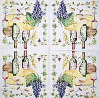Салфетки декупажные вино 1273