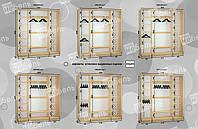 Варианты наполнения шкаф-купе 2400