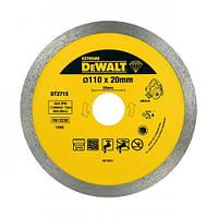 Круг алмазный d=110 мм, h сегмента 8 мм, для плиткореза DWC410, DeWALT DT3715