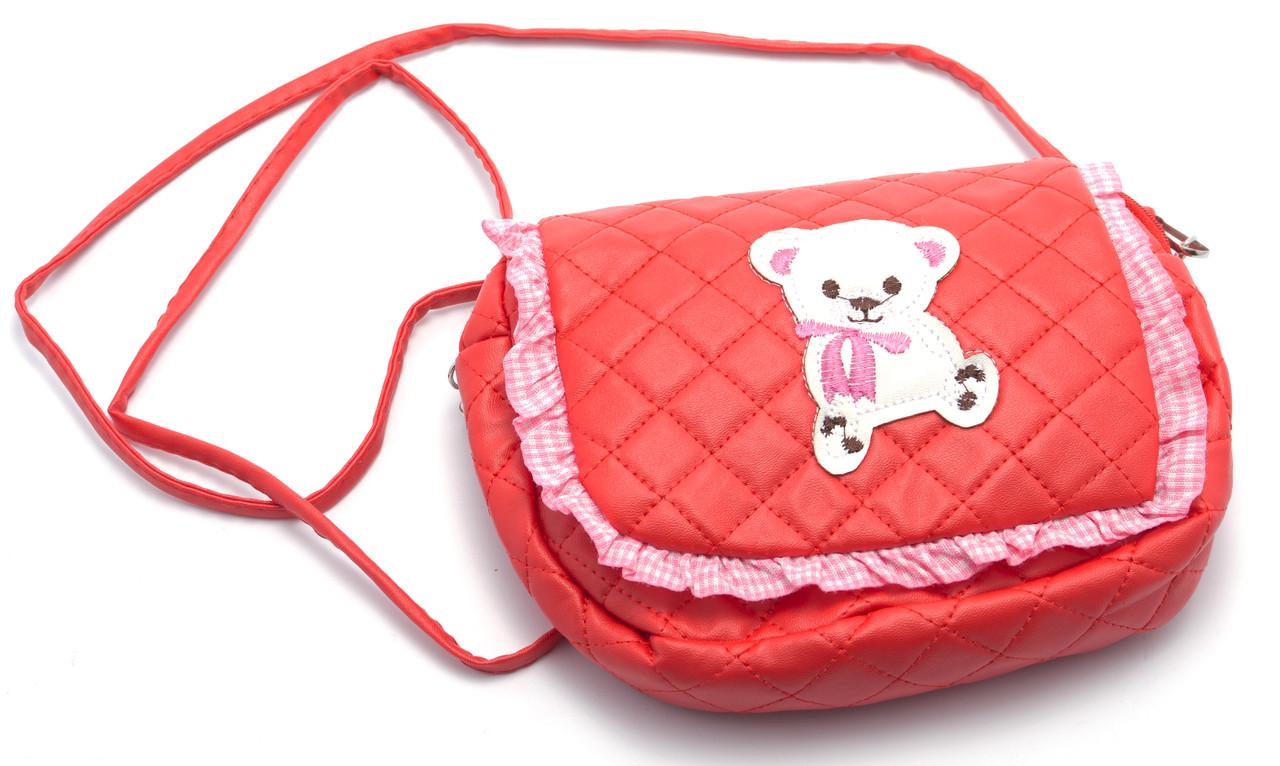 Стильная красная детская сумка Б/Н art. M3
