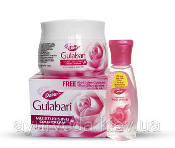 Гулабари, Gulabari, Розовая вода (120ml) и крем для лица (15ml)